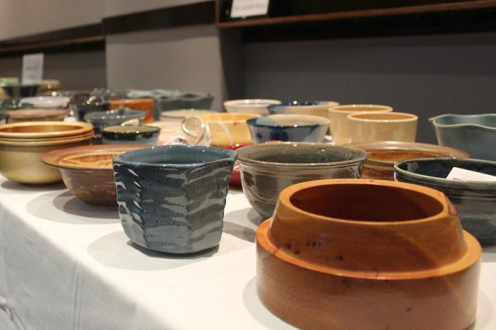 Some of the bowls made for last year's Empty Bowls YWCA fundraiser (photo: Daniel Morris Photography)