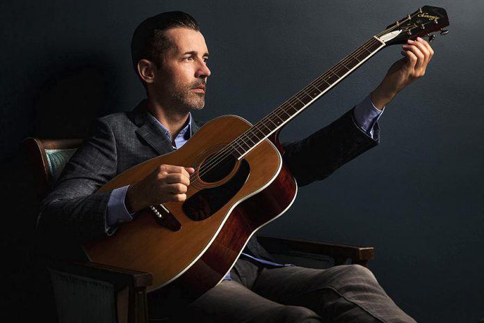At his Peterborough show, Royal Wood will be performing on piano, acoustic guitar, and more, accompanied by a stand-up bass player (publicity photo)