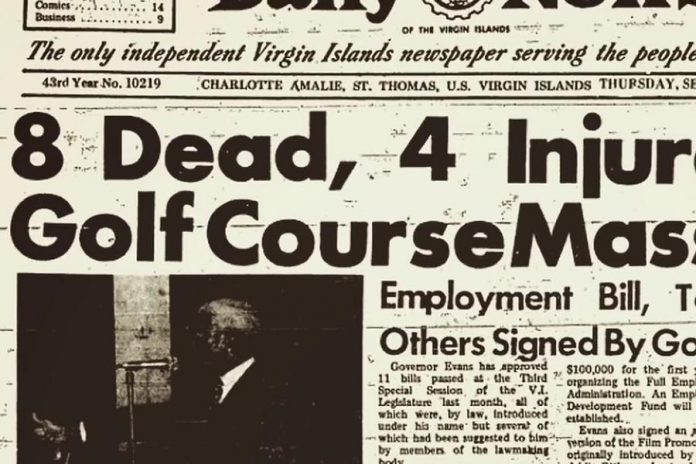 Ishmael Muslim Ali claims he is innocent of the murder of the 1972 killings of of eight people at Fountain Valley Golf Course in St. Croix, United States Virgin Islands  (photo courtesy of Cave 7 Productions)