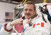 Colonel Chris Hadfield, the first Canadian to walk in space and the first Canadian to command the International Space Station, will speak at Lindsay's Academy Theatre on May 11 at a fundraiser for the United Way of City of Kawartha Lakes (photo: Chris Hadfield / NASA)
