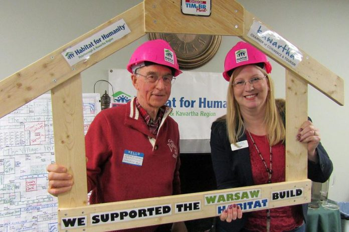 Dick Crawford and Tonya Kraan, two Chamber members who supported the Habitat for Humanity Build in Warsaw