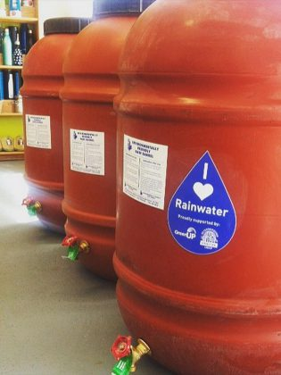 The GreenUP Store will be fully stocked with rain barrels for April 1st, with an instant $25 rebate provided for Peterborough Utilities customers.