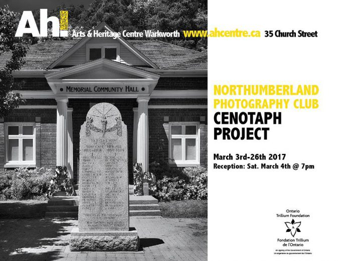 One of many Cenotaph photographs that will be on display from March 3rd until March 26th (graphic courtesy of Arts and Heritage Centre)