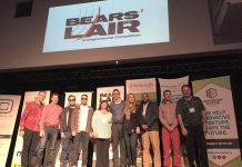 The six 2017 Bears' Lair finalists are (left to right): That Dam Tea (TreeWell Limited), Loch, Ship Shape Service, Mont Pellier, Lab Improvements, and Dock HitchHinge (photo courtesy of Bears' Lair)