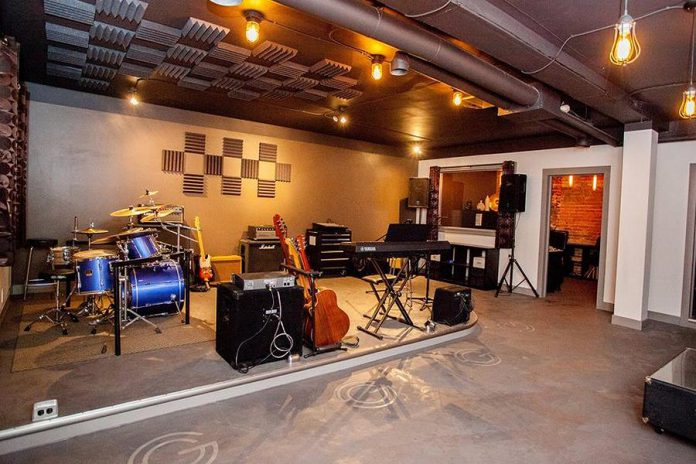 guerrillaSTUDIOS in downtown Peterborough is a rehearsal and workshop space as well as a recording studio (photo: guerrillaSTUDIOS)