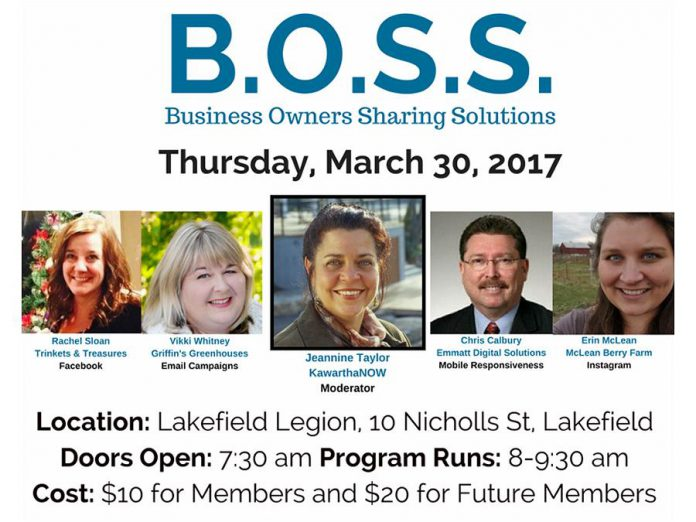On March 30, kawarthaNOW publisher Jeannine Taylor will moderate a panel of four Chamber members on how businesses can use digital platforms