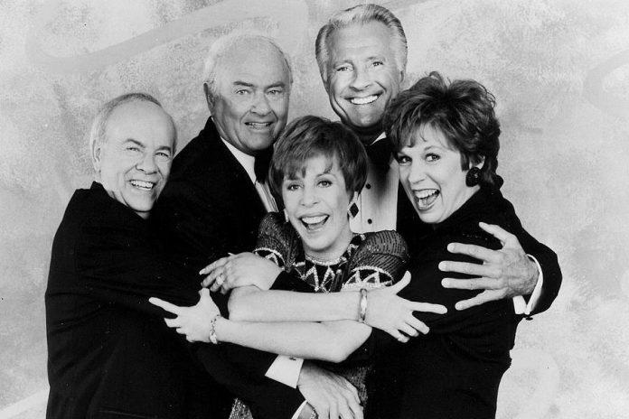 Tim Conway, Harvey Korman, Carol Burnett, Lyle Waggoner, and Vicki Lawrence from The Carol Burnett Show (photo Tony Esparza / CBS)