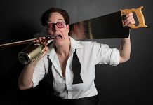 """An interview with Charlie Cathy Petch, who performs their full-length spoken word vaudeville play """"Mel Malarkey Gets The Bum's Rush"""" at The Theatre on King in downtown Peterborough from March 29 to April 2 (photo courtesy of Charlie Petch)"""