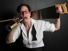 "An interview with Charlie Cathy Petch, who performs their full-length spoken word vaudeville play ""Mel Malarkey Gets The Bum's Rush"" at The Theatre on King in downtown Peterborough from March 29 to April 2 (photo courtesy of Charlie Petch)"