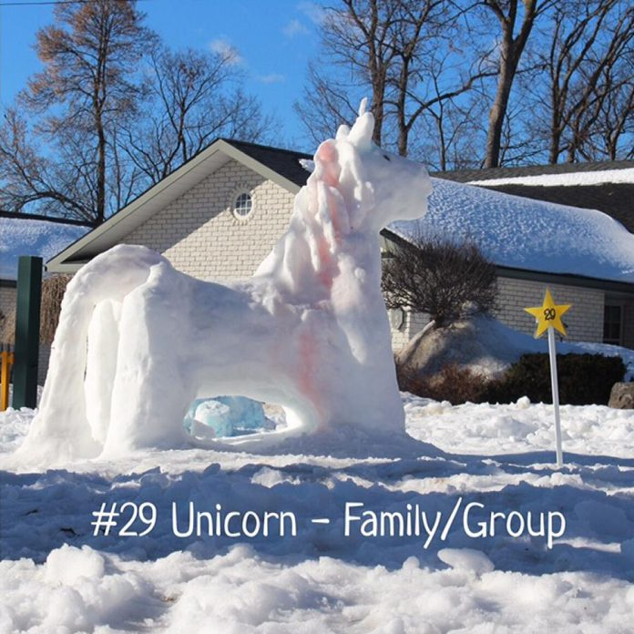"""Claire Kimble Mahoney and family won in the Family/Group category for """"Unicorn""""."""