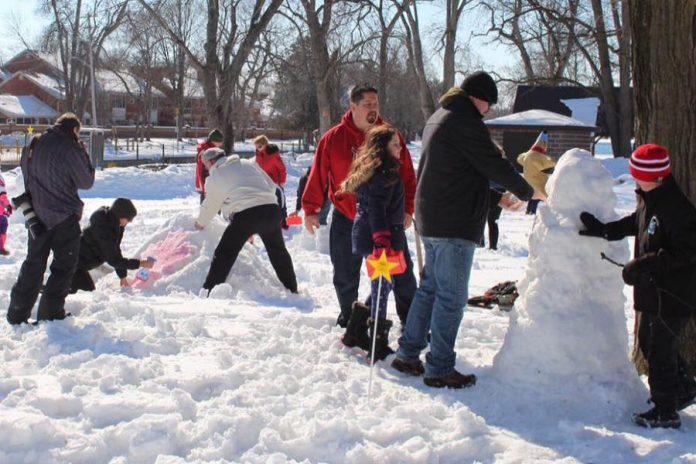 Hundreds of people turned out at the first annual Family FrostFest in Bobcaygeon on the Family Day long weekend to create and admire snow sculptures.