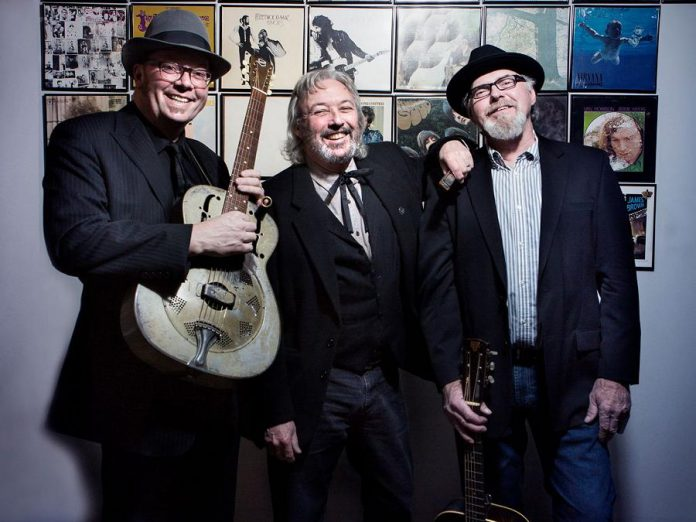 Peterborough's legendary acoustic blues trio Jackson Delta (Rick Fines, Alan Black, and Gary Peeples) are reuniting once again for a one-night only performance at the Market Hall on April 15 (photo: Jackson Delta)