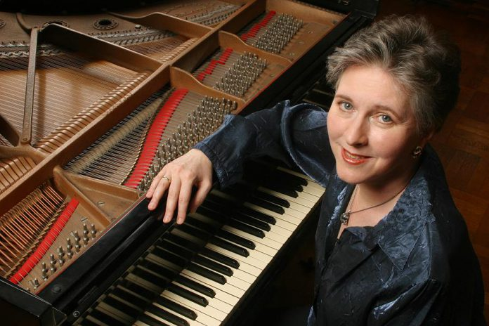 """World-class pianist Janina Fialkowska, declared """"one of the Grandes Dames of piano playing"""", returns to Peterborough to perform with the Peterborough Symphony Orchestra as part of her 65th birthday tour. Janina has two connections to Peterborough: she spent her first year of life here and her brother Peter Fialkowski was a well-known face on television as the weatherman on CHEX for more than 30 years. (Photo: Peter Schaaf)"""