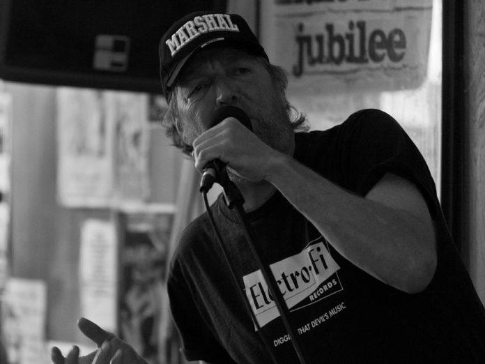 Phil Marshall performing at a blues jam at The Piggy in 2012 (photo: SLAB Productions)