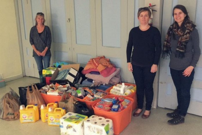 In January PTBO Needs dropped off all these items, donated by members of the community, at The Warming Room