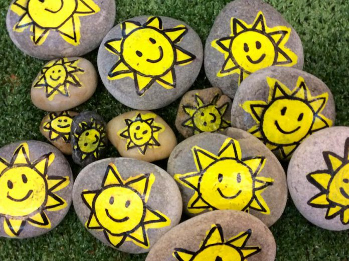 If you run across one of these rocks in Peterborough, painted by St. John Catholic Elementary School students, make a donation to Habitat to Humanity and pass the rock to someone else