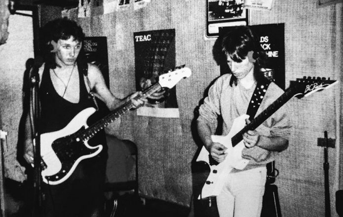 A young Terry (left) in the late '80s, with guitarist Dan Lapierre, in heavy metal band Cry