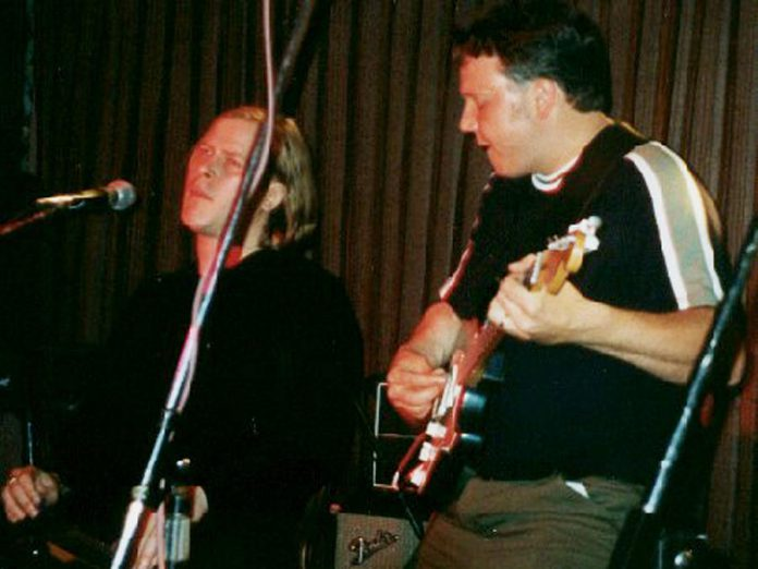 A highlight of his musical career: Terry performing with the late blues virtuoso Jeff Healey