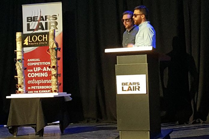 Loch, which crafts sunglasses from 500-year-old reclaimed timber, was the winner in the good and services stream. (Photo: Jeannine Taylor / kawarthaNOW)