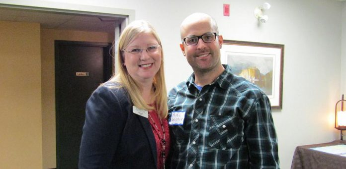 Two of the Chamber's 2017-18 Board of Directors: Tonya Kraan of STREXER is 1st Vice President and Mike Walker of Agilec is a Director at Large