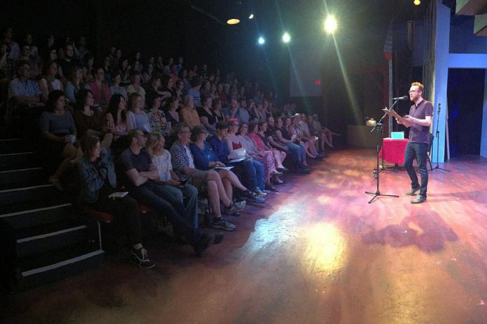"""Grown Ups Read Things They Wrote as Kids"", where brave adults get on stage before a live audience and read their childhood or teenage writing, is coming to Peterboroug's Market Hall on September 17, 2017 (photo: Grown Ups Read Things They Wrote as Kids)"
