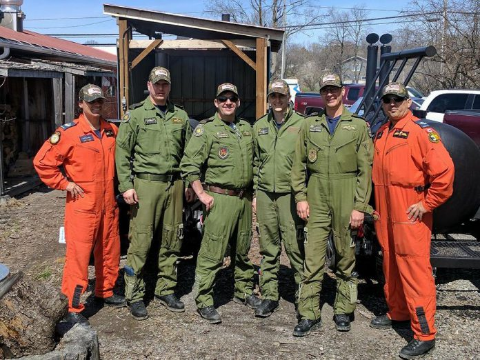 The Search and Rescue Team from CFB Trenton during their visit to Muddy's Pit BBQ in Keene (photo: Neil Lorenzen)