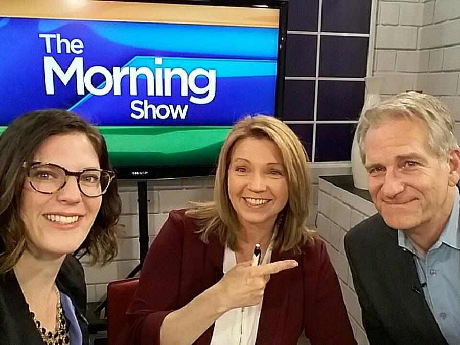 Dan Duran has joined CHEX TV as the station's new weather analyst (photo: Lisa MacDonald, CHEX Morning Show / Twitter)