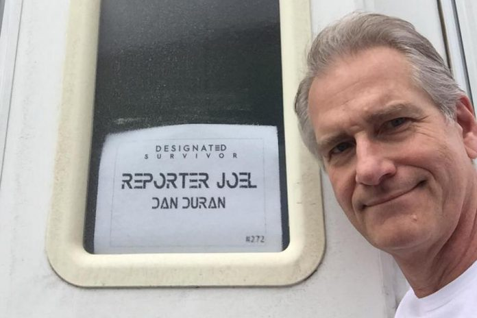 Dan on the set of the hit ABC TV series Designated Survivor, which films in Toronto (photo: Dan Duran / Facebook)