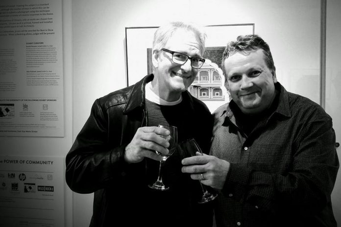 Dan with Peterborough DBIA Executive Director Terry Guiel at the SPARK Photo Festival (photo: Terry Guiel / Facebook)