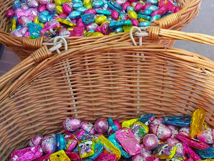 The annual Nutty Chocolatier Easter Egg Hunt takes place at noon on Easter Sunday (photo: The Nutty Chocolatier / Facebook)