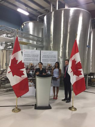 The announcement took place during a riboon cutting at Nobelgen's facility. (Photo: Peterborough Chamber of Commerce / Twitter)