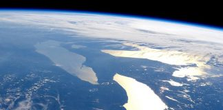 Lake Huron, Lake Erie and Lake Ontario as seen from the International Space Station. (Photo: NASA Earth Observatory)
