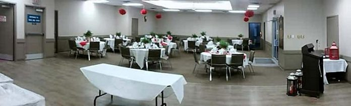 The Swanson Room can accommodate up to 120 guests and features a large dance floor, variable lighting, climate-control capabilities, DJ facilities, and a wheelchair-accessible lift (photo: Peterborough Lions Community Centre)