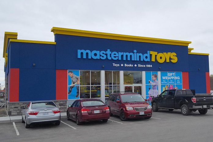 Mastermind Toys has been aggressively expanding its locations across Canada. The Peterborough location, pictured here, is Mastermind's 50th store in Canada. (Photo: Mastermind Toys)