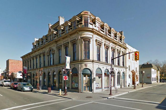 On April 3, 2017, Peterborough City Council voted to deny heritage designation to the properties at 144 Brock Street (The Pig's Ear Tavern) and 450 George Street North (The Black Horse Pub). The two properties adjoin the west and south sides of the Morrow Building, which received heritage designation in 1995. The decision paves the way for Parkview Homes to develop the two properties, although the developer's plans will be reviewed by council. (Photo: Google)