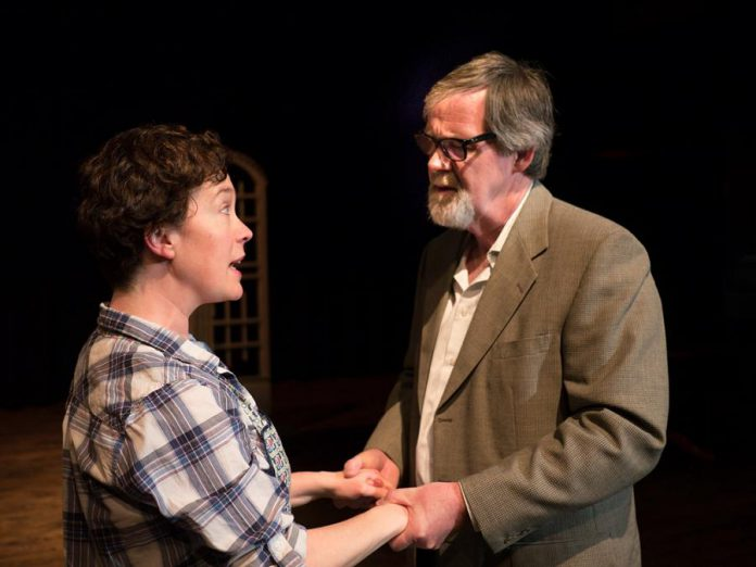 Alison McElwain as Mrs. Gibbs and Tom Quinn as Doc Gibbs. (Photo: Andy Carroll)