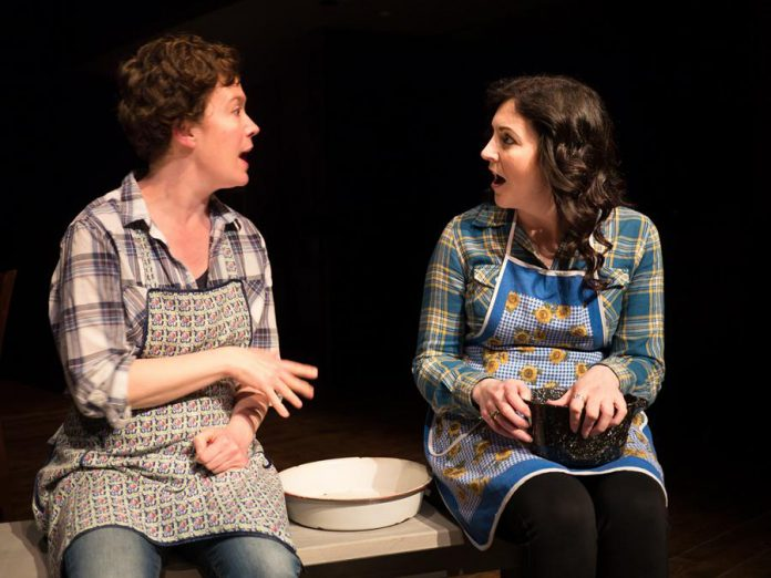 Alison McElwain as Mrs. Gibbs and Megan Murphy as Mrs. Webb. (Photo: Andy Carroll)