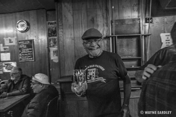 John Punter, who has owned and operated The Pig's Ear Tavern with Lylie Punter for 17 years. John and Lylie will be retiring now that the building has been sold to a developer. (Photo: Wayne Eardley)