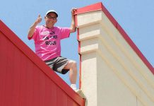 On May 5th, Paul Rellinger will ascend to the roof of The Brick in Peterborough for a sixth straight year. He will stay there for 48 hours while volunteers collect donations to support Habitat for Humanity.