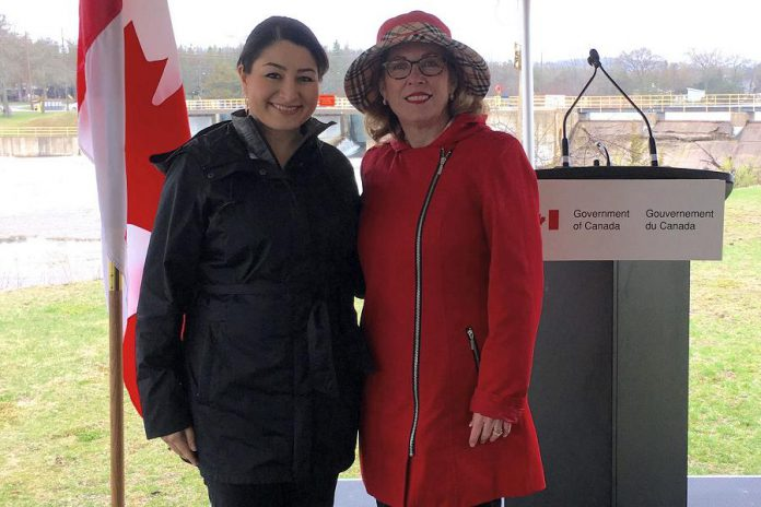 The Honourable Maryam Monsef, M.P. Peterborough-Kawartha, and Kim Rudd, M.P. Northumberland-Peterborough South, made the announcement on behalf of the Government of Canada. (Photo: Lauren Hunter)