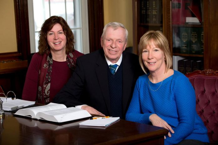 Bobcaygeon lawyer Robert Walker with his two staff Adriana and Cheryl have joined LLF Lawyers and will continue practicing law at their current location under the name LLF Lawyers Bobcaygeon (supplied photo)