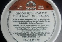 The March 31st recall of Wholesome Farms brand Sundae Cup products has now been expanded to include additional flavours (photo courtesy Canadian Food Inspection Agency)