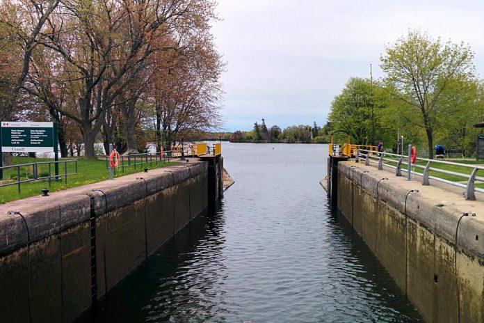 Parks Canada staff prepare Lock 20 - Ashburnham on the Trent-Severn Waterway at  Little Lake for the 2017 season. (Photo: Bruce Head / kawarthaNOW)