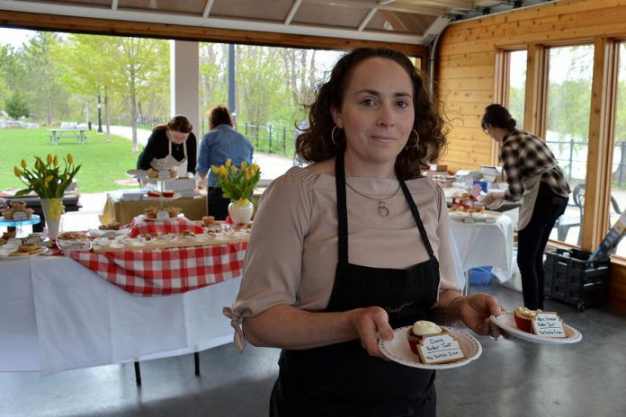 The Dutch Oven in Cobourg offers both The S'more Butter Tart, a decadent version of the famous campfire treat, and The Marie Dressler, a strawberry tart made to honour the famous Cobourg-born actress.  (Photo: Eva Fisher / kawarthaNOW)