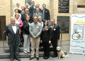 The recipients of the 2017 City of Kawartha Lakes Accessibility Awareness Awards with Mayor Andy Letham, Councillor Stephen Strangway and Accessibility Coordinator Barb Condie at City Hall on Tuesday, May 23. (Photo: City of Kawartha Lakes)