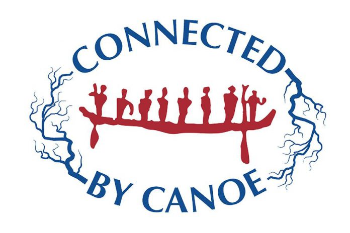 Connected by Canoe is a sesquicentennial project of The Canadian Canoe Museum and Community Foundations of Canada in partnership with the Ottawa Community Foundation, Parks Canada, and community organizations along the way. (Graphic: The Canadian Canoe Museum)