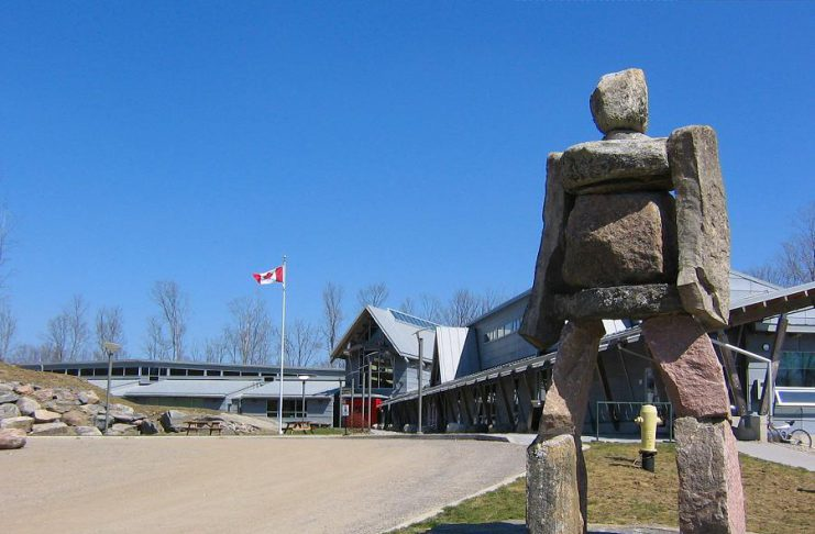 Fleming College is hiring 14 full-time faculty and staff positions this spring. The college has campuses in Peterborough, Lindsay, Cobourg, and Haliburton. Pictured is the Haliburton School of Art and Design. (Photo: Erin Kernohan / Fleming College)