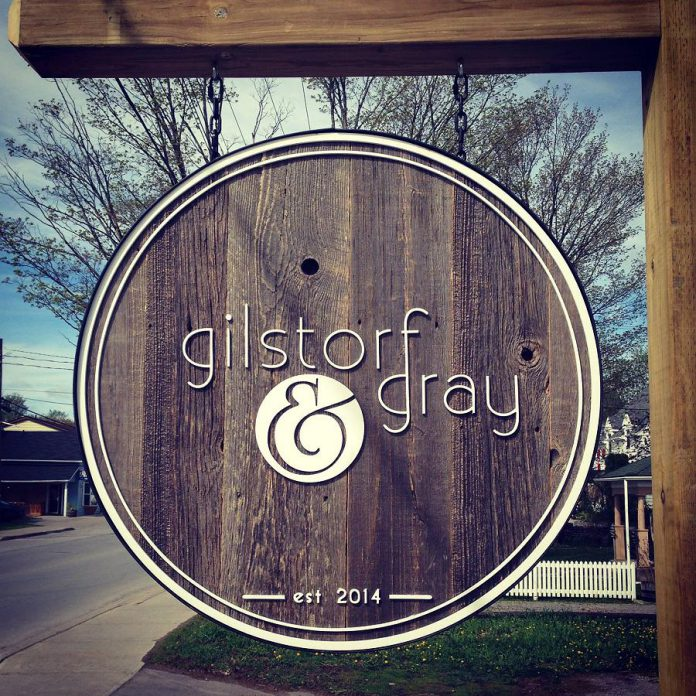 The Gilstorf & Gray lawn sign reflects the shop's natural and organic aesthetic. (Photo: Gilstorf & Gray)