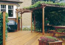 Simplify your to-do list this summer so you can spend more of your outdoors time at home relaxing and entertaining. Get a worry-free long-lasting metal roof from Lifestyle Home Products, a low-maintenance yard or an outdoor room from Kawartha Lakes Landscaping, or build the deck of your dreams (pictured) with plans and materials from Merrett Home Hardware Building Centre. (Photo: Home Hardware).