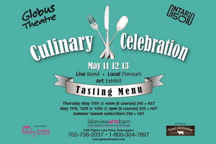 Globus Theatre is celebrating local food with a Culinary Celebration until May 13. (Graphic: Globus Theatre)